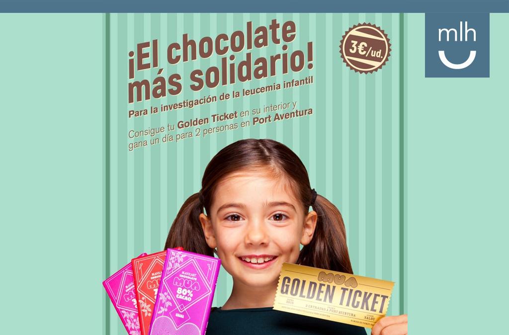 Campaña chocolate solidaria y Golden Ticket
